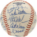 Autographs:Baseballs, 1989 Chicago Cubs Team Signed Baseball. The '89 NL East Champs arerepresented here with this collection of 25 signatures t...