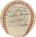 Autographs:Baseballs, 1955 Chicago Cubs Team Signed Baseball. A total of 18 members ofthe 1955 Chicago Cubs appear on the offered ONL (Giles) or...
