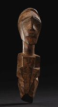 African: , Songe (Democratic Republic of Congo). Half figure. Wood, camwood.Height: 8 ¾ inches Width: 2 ¼ inches Depth: 3 inches. Th...
