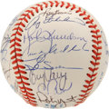 Autographs:Baseballs, 1991 Milwaukee Brewers Team Signed Baseball. The 1991 incarnationof the Brew Crew is seen here with a total of 26 signatur...