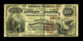 National Bank Notes:West Virginia, Parkersburg, WV - $10 1882 Brown Back Fr. 490 The Citizens NB Ch. # (S)2649. ...