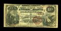 National Bank Notes:Pennsylvania, Pittsburgh, PA - $10 1882 Brown Back Fr. 485 The NB of WesternPennsylvania Ch. # (E)4918. ...