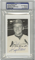 Autographs:Letters, Roger Maris Single Signed Cut, PSA Authentic. This cut featuresRoger Maris in a Cardinals uniform. Maris, the home run king...