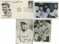 """Autographs:Letters, Negro League Hall of Famers Signed Items Lot of 4. Here we offer atrio of 3.5x5"""" photos and a Babe Ruth First Day Cover p..."""