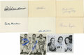 Autographs:Letters, Baseball Hall of Famers Signed Items Lot of 8. Group of signedindex cards and small photos has been signed by several vin...