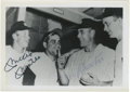 Autographs:Photos, Mickey Mantle and Vic Raschi Dual-Signed Photograph. A tremendousmid-century locker room image of the mighty Yankee corps ...