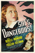 "Movie Posters:Crime, She's Dangerous! (Universal, 1937). One Sheet (27"" X 41"")...."