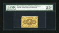 Fractional Currency:First Issue, Fr. 1230 5c First Issue PMG About Uncirculated 55 EPQ....
