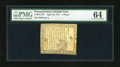 Colonial Notes:Pennsylvania, Pennsylvania April 10, 1777 4d PMG Choice Uncirculated 64....