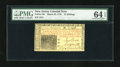 Colonial Notes:New Jersey, New Jersey March 25, 1776 15s PMG Choice Uncirculated 64 EPQ....