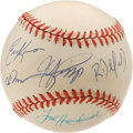 Autographs:Baseballs, Los Angeles Dodgers Rookies of the Year Multi-Signed Baseball. Allfive of the LA Dodgers who won the NL ROY award between ...