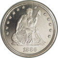Proof Seated Quarters, 1886 25C PR66 NGC....