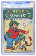 Golden Age (1938-1955):Miscellaneous, Star Comics V2#6 (Centaur, 1939) CGC GD/VG 3.0 Light tan to off-white pages....
