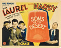 "Movie Posters:Comedy, Sons of the Desert (MGM, 1933). Half Sheet (22"" X 28"").. ..."