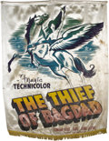 "Movie Posters:Fantasy, The Thief of Bagdad (United Artists, 1940). Silk Banner (39"" X48"").. ..."