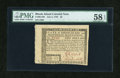 Colonial Notes:Rhode Island, Rhode Island July 2, 1780 $5 PMG Choice About Unc 58 EPQ....