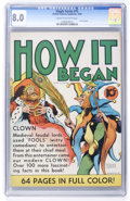 Golden Age (1938-1955):Non-Fiction, Single Series #15 How It Began (United Features Syndicate, 1939)CGC VF 8.0 Cream to off-white pages....