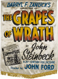 "Movie Posters:Drama, The Grapes of Wrath (20th Century Fox, 1940). Silk Banner (37"" X52"").. ..."