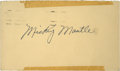Autographs:Others, 1951 Mickey Mantle Signed Government Postcard....