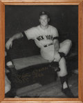 "Autographs:Others, 1980 Mickey Mantle ""T.C. 1956"" Signed Large Photograph...."