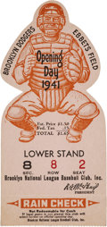 Baseball Collectibles:Tickets, 1941 Brooklyn Dodgers Opening Day Ticket Stub....