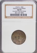 Colonials, 1761-A SOU M French Colonies Sou Marque AU55 NGC. Ex:VlackCollection. NGC Census: (0/0). ...