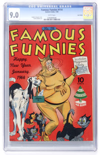 Famous Funnies #114 Lost Valley pedigree (Eastern Color, 1944) CGC VF/NM 9.0 White pages