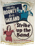 """Movie Posters:Musical, Strike Up the Band (MGM, 1940). Silk Banner (37"""" X 54"""").. ..."""