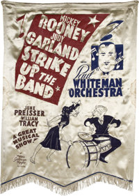 "Strike Up the Band (MGM, 1940). Silk Banner (37"" X 54"")"