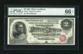 Large Size:Silver Certificates, Fr. 241 $2 1886 Silver Certificate PMG Gem Uncirculated 66 EPQ....