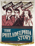 "Movie Posters:Romance, The Philadelphia Story (MGM, 1940). Silk Banner (38"" X 49"").. ..."