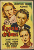 """Movie Posters:Hitchcock, The Paradine Case (Lippert, R-1954). Argentinean Poster (29"""" X43""""). Hitchcock.. ..."""