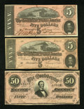 Confederate Notes:1864 Issues, $60 Face Confederate.. ... (Total: 3 notes)