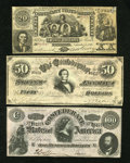 Confederate Notes:1864 Issues, Three Confederate Counterfeit Notes.. ... (Total: 3 notes)