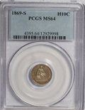 Seated Half Dimes, 1869-S H10C MS64 PCGS....