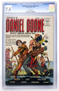 Golden Age (1938-1955):Western, Exploits of Daniel Boone #1 Circle 8 pedigree (Quality, 1955) CGC VF- 7.5 Off-white pages....