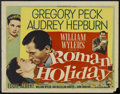 "Movie Posters:Romance, Roman Holiday (Paramount, 1953). Half Sheet (22"" X 28""). Romance....."