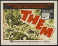 """Movie Posters:Science Fiction, Them! (Warner Brothers, 1954). Half Sheet (22"""" X 28""""). ScienceFiction.. ..."""