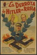 "Movie Posters:Historical Drama, Hitler: Defeat in Russia (Radium Films, 1953). Argentinean Poster(29"" X 43""). Documentary.. ..."