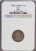 Early Dimes: , 1805 10C 4 Berries F2 NGC. JR-2. NGC Census: (3/240). PCGSPopulation (11/311). Mintage: 120,780. Numismedia Wsl. Price fo...