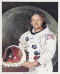 Autographs:Celebrities, Neil Armstrong Color Photo Signed. ...