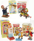 Antiques:Toys, Lot of Five Battery Operated Japanese Clown Toys in the OriginalBoxes.... (Total: 5 Items)