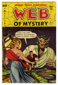 Golden Age (1938-1955):Horror, Web of Mystery #11 (Ace, 1952) Condition: FN+....