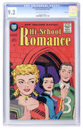 Golden Age (1938-1955):Romance, Hi-School Romance #55 File Copy (Harvey, 1956) CGC NM- 9.2 Cream tooff-white pages....