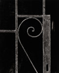 Photography :20th Century , AARON SISKIND (American, 1903-1991). Detail of Wrought Iron Railing, 1947. Vintage ferrotyped press print, 1947. Paper: ...