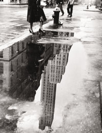 BEDRICH GRUNZWEIG (American, b. 1910) April Shower, New York, 1951 Gelatin silver, printed later