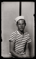 Photography :20th Century , MIKE DISFARMER (American, 1884-1959). Young Man in Sailor Cap, 1939-46. Gelatin silver enlargement, posthumous print. Pa...