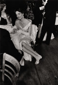Photography :20th Century , ROBERT FRANK (American, b. 1924). Time/Life Press Print Photograph: Gloria Case in Opera Club During Intermission on Openi...