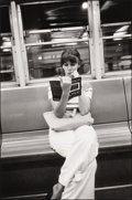 Photography :20th Century , LOUIS FAURER (American, 1916-2001). New York City (Woman on Subway), 1973. Gelatin silver, 1980. Paper: 14 x 11 inches (...