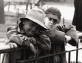 Photography :20th Century , LOU BERNSTEIN (American, 1911-2005). Boys in the Park, 1949. Vintage gelatin silver, 1949. 10-1/4 x 13-3/8 inches (26.0 ...